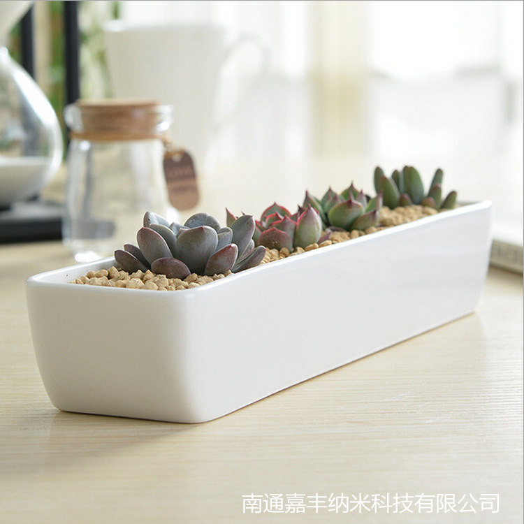 Small Indoor Ceramic Plant Pots White Ceramic Handmade