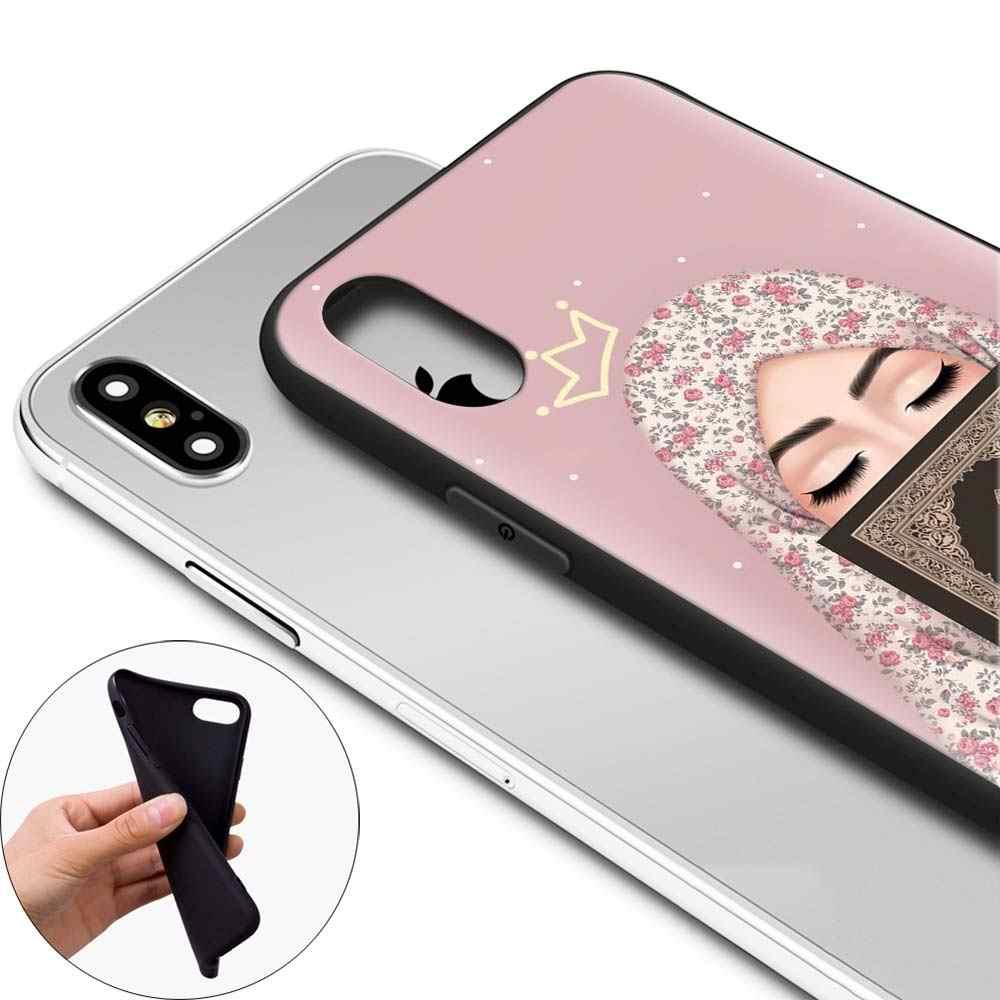 מוסלמי אסלאמי Gril עיני ערבית חיג 'אב ילדה רך מקרה טלפון עבור Apple iPhone 7 8 בתוספת X XR XS מקסימום 11 פרו מקסימום 6 6s בתוספת 5S S מקרה