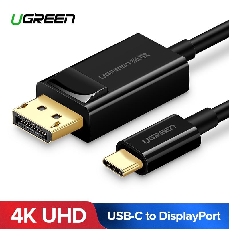 Ugreen USB C a DisplayPort Cable USB 3,1 de tipo C DP Thunderbolt 3 adaptador para Samsung Galaxy S9/S8 huawei Mate 10 Pro USB-C DP