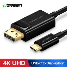 Ugreen usb c displayport 케이블 usb 3.1 유형 c dp thunderbolt 3 어댑터 (삼성 galaxy s9/s8 용) 화웨이 메이트 10 pro USB C dp
