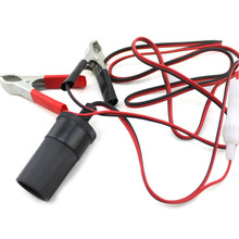 Car Battery Emergency Combine Cable Terminal Clip-on Female Power Adapter Extension Cord with Auto Cigarette Lighter Socket New