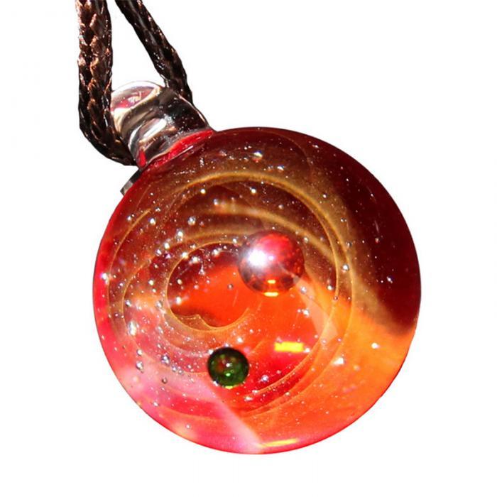 de vidro pingente colar jóias presente lxh