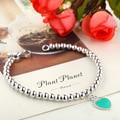 Pulseira  925  Silver Heart Pendant Bracelets Bangles for Women Pulsera Mujer Fashion Love Heart Bracelets Bead Strand Bracelet