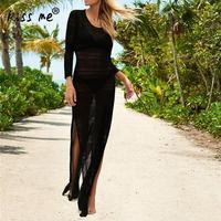 Backless Beach Dress Side Slit Beach Cover Up Sexy Hollow Women's Tunic Pink Beachwear Cover Ups Summer Long Dresses for Women