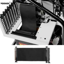 VODOOL 24 см высокая скорость PC видеокарты PCI Express соединительный кабель Riser Card PCI-E 16X гибкий кабель удлинитель порт адаптер