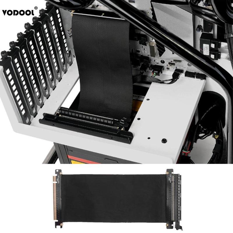 VODOOL 24 cm de alta velocidad PC tarjetas gráficas PCI Express conector de Cable Riser Card PCI-E 16X Flexible Cable de extensión de puerto adaptador