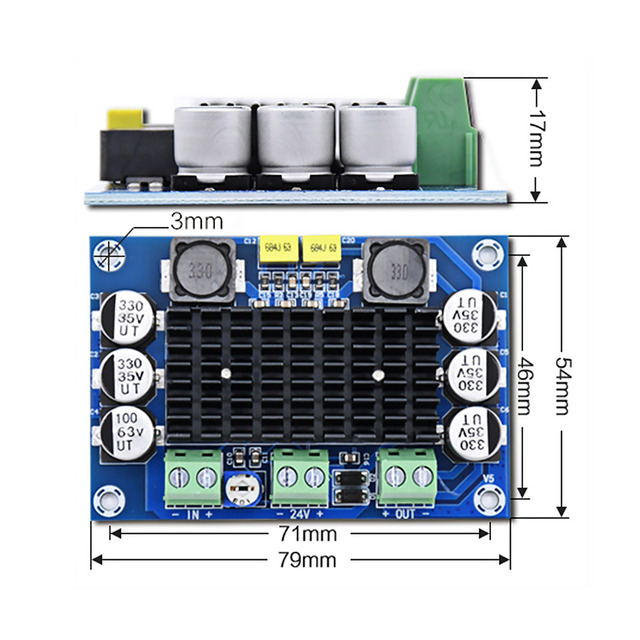 AIYIMA TPA3116D2 Digital Audio Amplifier Board Mono Power Amplifiers DC12-26V Amplificador DIY Sound Speaker Home Amplifier