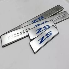 Auto-Styling Per MG ZS 2017 2019 Accessori In Acciaio Inox Davanzale Del Portello Trim Dello Scuff Palte Della Protezione Della Protezione Car Styling sticker 4 pcs