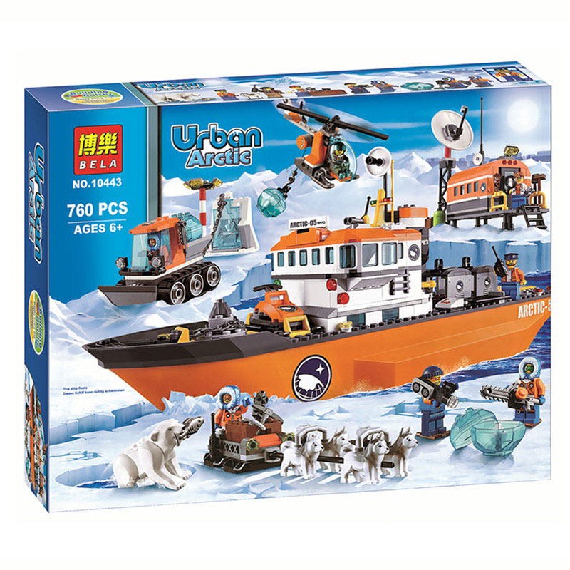 760pcs City Arctic Icebreaker Ship Ice Breaker Building Block Educational Toy for Children Education Building Blocks Gift 81pcs set assemblled gear block montessori educational toy plastic building blocks toy for children fun block board game toy