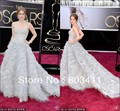 Envío gratuito nueva moda sin tirantes de una línea de novia con gradas 85o premios Oscar vestido de la celebridad