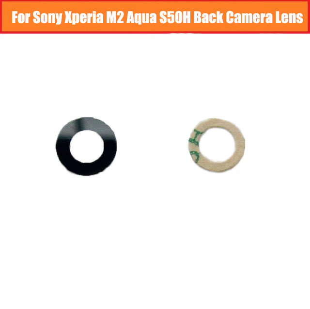 New 8MM Optics Glass Lens For Sony Xperia M2 Aqua S50H Back Camera Lens Glass Is Made Of Glass With Sticker Replacement Parts