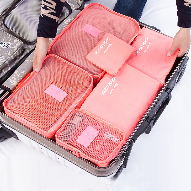 New 6pcs Set Women Travel Storage Bag High Capacity