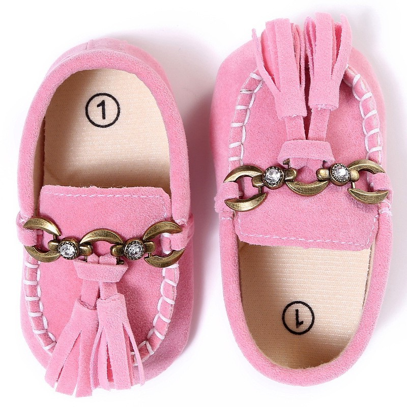 Pink Newborn Baby Girl Moccasins Soft Moccs Shoes Boy Kids Leather Fringe Infant Shoes Baby Casual Shoes Bebe First Walkers
