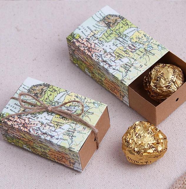 7653cm world map design drawer box with hemp string gift handmade soap