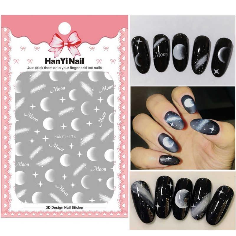 Flower 3D Nail Sticker Transparent Moon DIY Sticker Decals Tips Manicure  Charm Design Adhesive Tips Art 042a119059d6