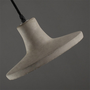 Image 5 - 빈티지 크리 에이 티브 시멘트 펜 던 트 조명 산업 콘크리트 펜 던 트 램프 회색 매달려 조명 에디슨 전구
