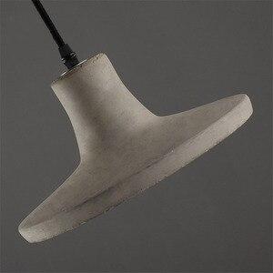 Image 5 - Luzes pingente de cimento criativo do vintage lâmpadas pingente de concreto industrial cinza pendurado luzes edison lâmpadas