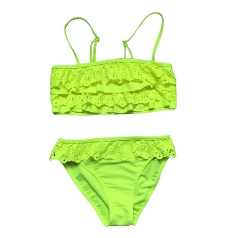 New Children Swimwear Baby Kids Cute Bikini Girls Two Pieces Swimsuit Bathing Suit Beachwear