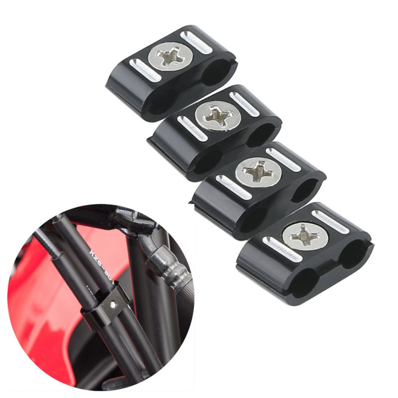 Brake Throttle Cable Clips Clamps For Harley Sportster 883 1200 Dyna Softail Fat Street Bob 84-17 rst 001 bk black aluminum rear seat mounting tab cover for harley sportster dyna softail street glide street bob touring