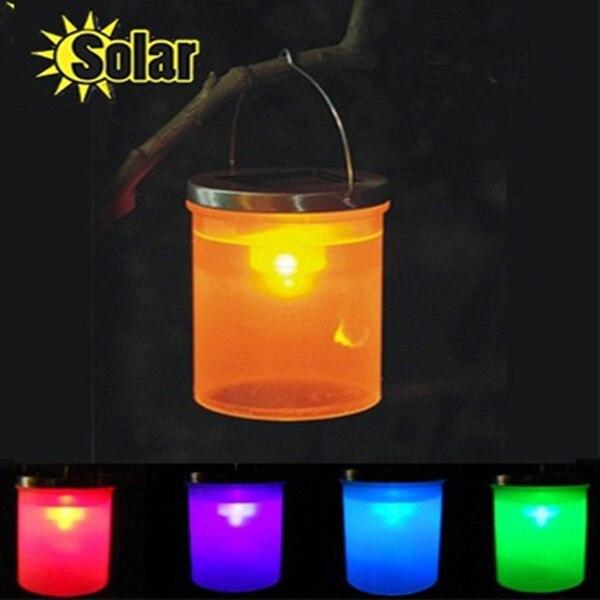 5pcs Led Solar Light Outdoor Waterproof Night Lights Lantern Hanging Lamp  Barrel Garden Decoration Lighting Chandelier