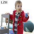 LZH Children Clothes 2016 New Autumn Winter Boys Coats Boys Jackets Girls Outerwear Coat Kids Warm Wool Coat Baby Hooded Jacket