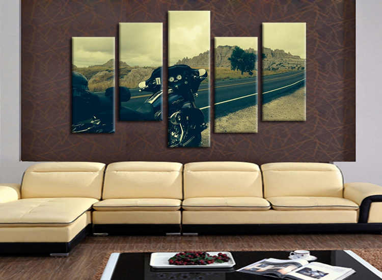 HD Printed motorcycle scenery series Painting Canvas Print room decor print poster picture canvas Free shipping/E-WY-09