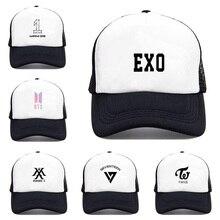 33458f1a4ac83 Mens Snapback Hats BTS MONSTA TWICE EXO Print Fashion Cap Hats Adjustable Baseball  Cap Bulletproof Young