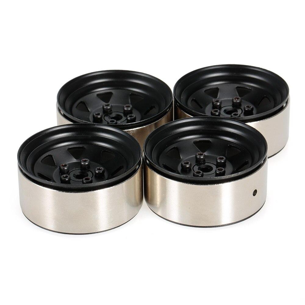 4pcs 1.9 Inch 1/10 Wheel Hub Deadlock Metal Wheel Rim for 1/10 D90 SCX10 CC01 RC4WD RCRUN RC Crawler Parts цена