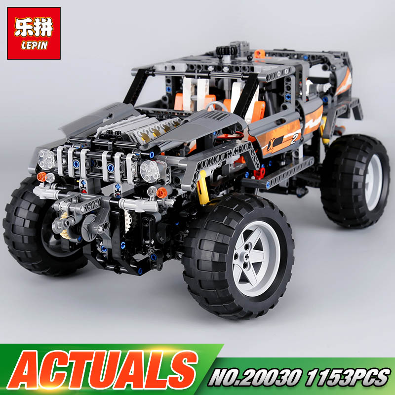 Lepin 20030 1132Pcs Technic Ultimate Series The Off-Roader Set Children Building Blocks Bricks Educational Toys Model Gifts 8297 lepin 20030 1132pcs technik ultimate off roader cars legoingly 8297 sets building nano block bricks toys for boy gifts