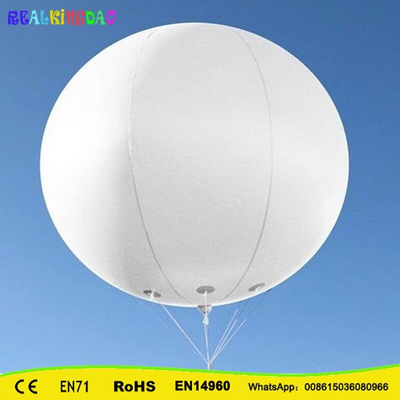 Frete grátis 2 m/6.5ft Gigante PVC inflável céu balão balão balão de hélio (3 pcs)