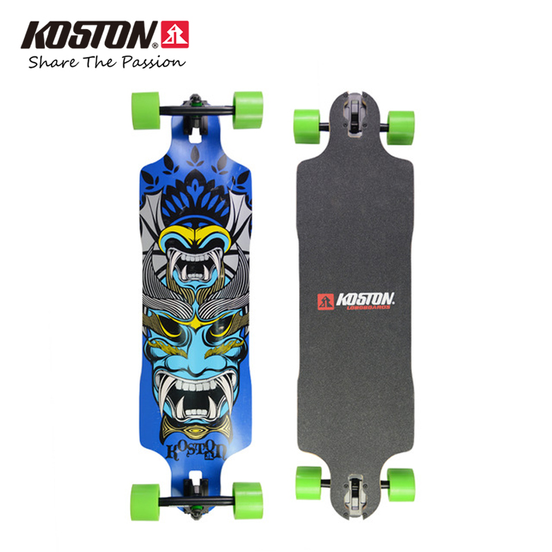 цены  KOSTON Professional Downhill Longboard Completes 37 Inch Drop Through Long Skateboard 9ply Canadian Maple Laminated Skateboard