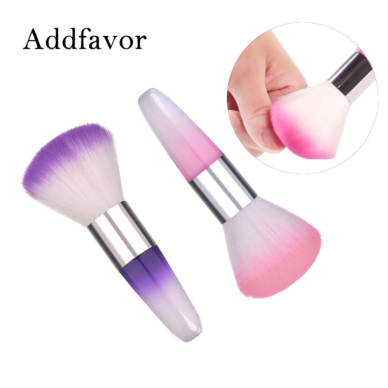 Nail Art Brush Cleaner: Addfavor 1pcs Nail Art Cleaning Brush Remover Dust Powder