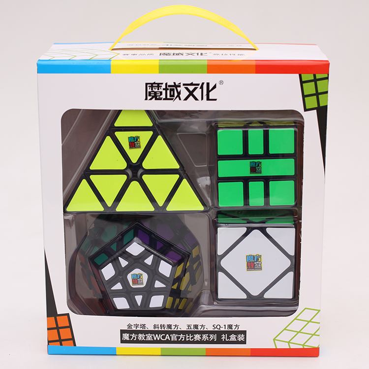 Moyu Meilong Bundle 4PCS/Set Gift Pack Magic Cube Mofangjiaoshi 4pcs Speed Puzzle Educational Toys Children Professional Games