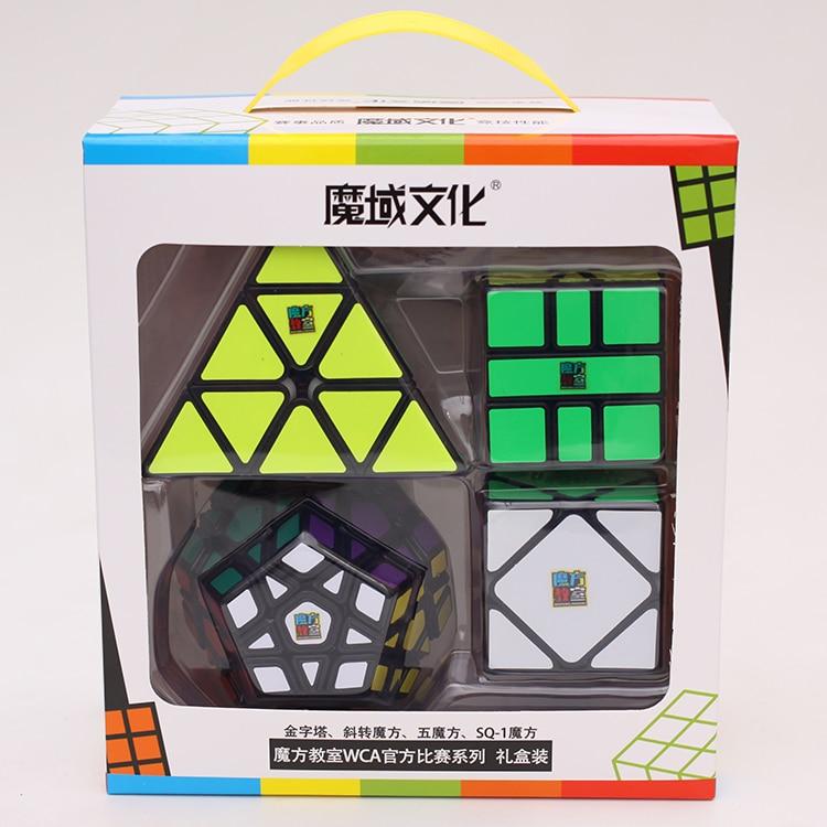 Moyu Meilong Bundle 4PCS/Set Gift Pack Magic Cube Mofangjiaoshi 4pcs Speed Puzzle Educational Toys Children Professional Games