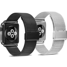 Milanese loop apple watch 3 2 1 stainless steel strap for apple watch band 38/42mm bracelet apple watch 40mm for iwatch 4 44mm все цены