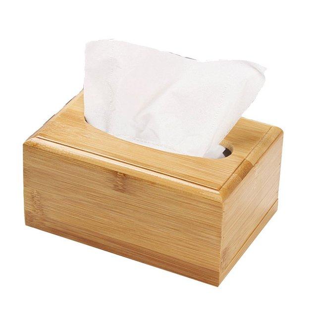 Badkamer Aanrechtblad Slaapkamer Kaptafel Nachtkastje Thuis Bureau Tafel Massief houten tissue doos Afneembare tissue doos