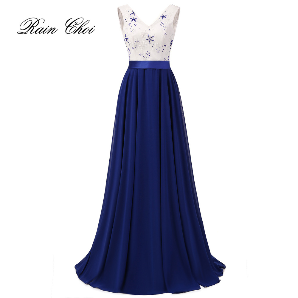 Women Long Formal Prom Gown V Neck Elegant Chiffon   Evening     Dresses   2019