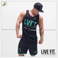 SJ 2017 Bodybuilding Clothing And Fitness Men Undershirt Solid Tank Tops Blank Golds Men Undershirt