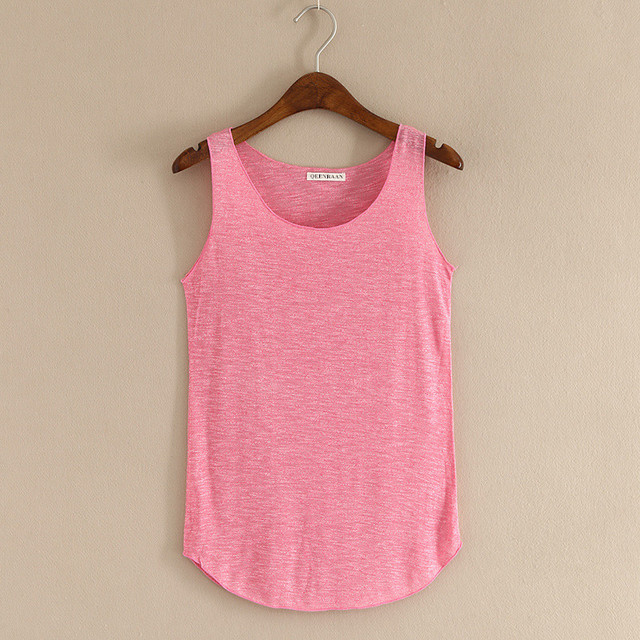 Spring Summer New Fitness Tank Tops Women Sleeveless Round Neck Loose T Shirt Ladies Vest Singlets Slim T-shirts Woman Clothes