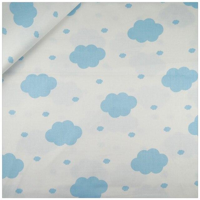 Azul nubes patrones tela de algodón patchwork DIY coser la ropa de ...