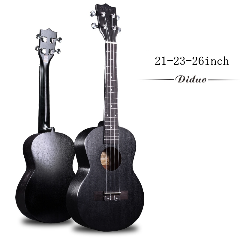 Soprano Concert ténor acoustique électrique ukulélé 21 23 26 pouces Mini guitare Ukelele noir acajou Guitarra Uke