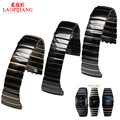 26mm Balck Watch Accessories Replacement Ceramic Watch Band Strap Bracelets for Sintra