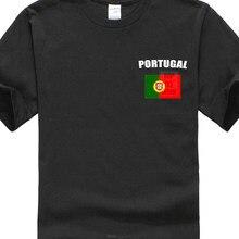 260dfa4578 Bandeira de Portugal Portugal Jogador de Futebol Fã Camisa T Homens Camisa  De Algodão de Manga Curta Tee Shirts