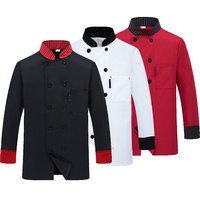 New Chef Jacket Hotel Restaurant Work Wear Double Breasted Mens Kitchen Chef Uniform Cook Clothes Food
