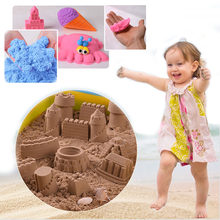 100G/bag Sand slime Mars magic sand for play diy toy dynamic sand Building Mold light Clay Educational Safety Children toys(China)
