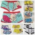 Alta calidad underwear cuecas boxeador de los hombres 100% algodón encantador de la historieta del boxeador de los hombres/men underwear encantador underwear
