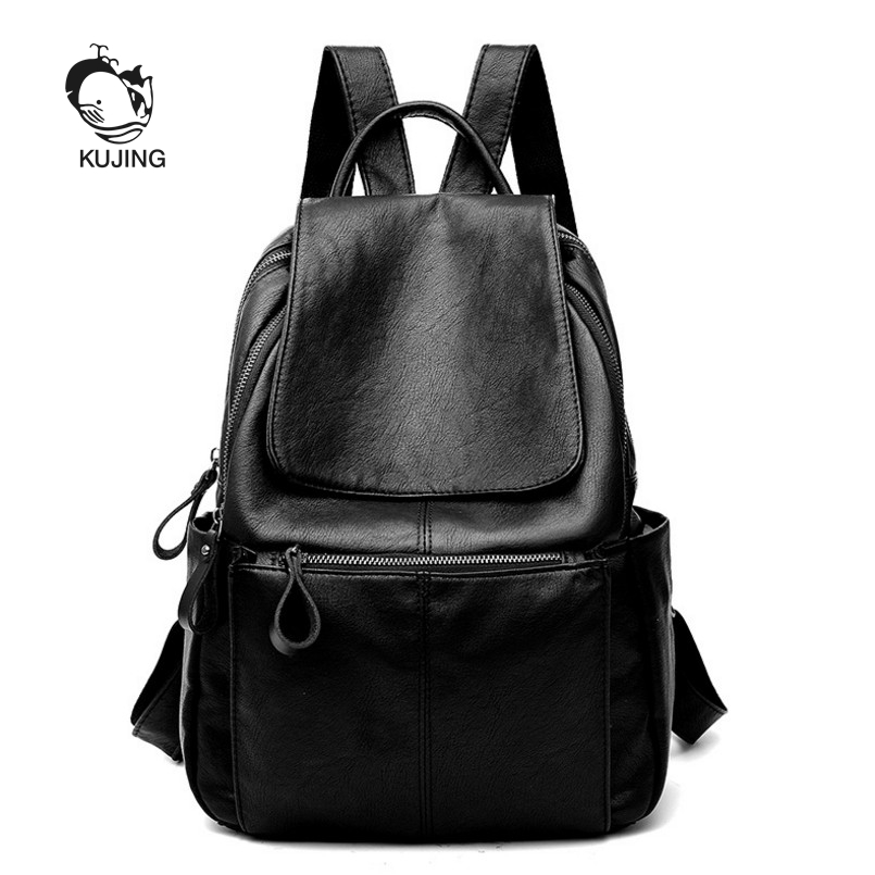 KUJING Fashion Backpack Hot High Quality Women Business Casual Backpack Student Backpack Cheap Travel Shopping Women