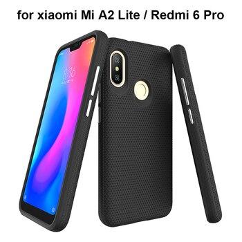 2 in 1 Dreieck Strukturierte Rüstung Fällen für xiaomi mi A2 Lite Stoßfest TPU PC Hybrid Telefon Abdeckung für Rot mi 6 Pro Schutzhülle