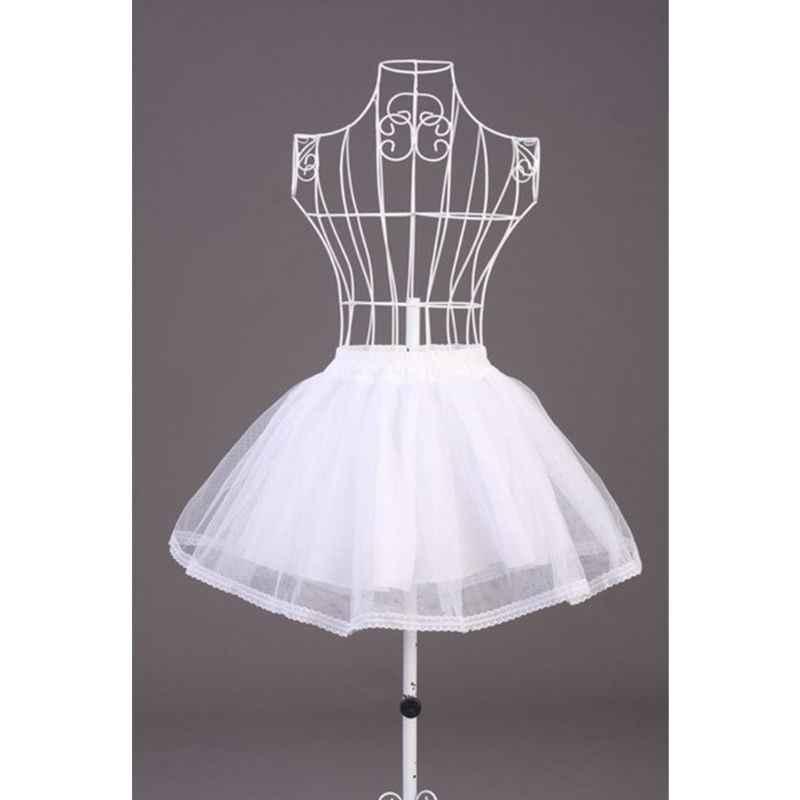 คู่ชั้นสีทึบสั้น Tulle Petticoats เอวยางยืดสายตาข่ายกระโปรง Crinoline สำหรับงานแต่งงานชุด