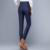 Calça De Cintura Alta das mulheres de Inverno Pato Quente Para Baixo Para Senhoras Calças Formais Das Mulheres trabalho Casual e Elegante Fino Preto Longo Azul XXXL